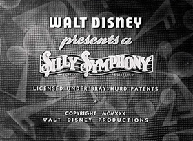 Screenshots from the 1930 Disney cartoon Monkey Melodies