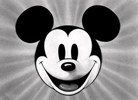 Screenshots from the 1930 Disney cartoon Pioneer Days