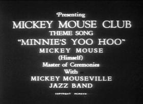 Screenshots from the 1930 Disney cartoon Minnie