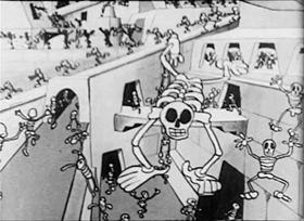 Screenshots from the 1930 Van Beuren cartoon Gypped in Egypt