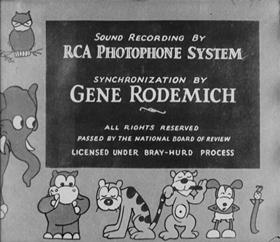 Screenshots from the 1930 Van Beuren cartoon The Office Boy
