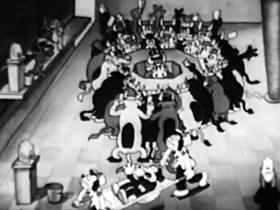 Screenshots from the 1930 Columbia cartoon Lambs Will Gamble