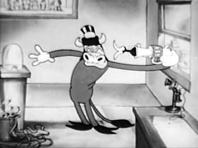 Screenshots from the 1930 Columbia cartoon Lambs Will Gambol