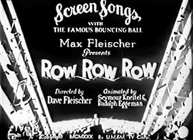 Screenshots from the 1930 Fleischer Studio cartoon Row, Row, Row