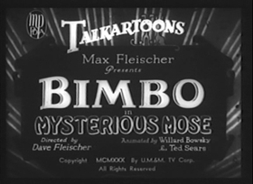 Screenshots from the 1930 Fleischer Studio cartoon Mysterious Mose