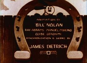 Screenshots from the 1930 Walter Lantz cartoon My Pal Paul