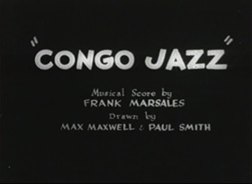Screenshots from the 1930 Warner Brothers cartoon Congo Jazz