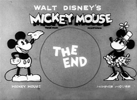 Screenshots from the 1931 Disney cartoon The Birthday Party