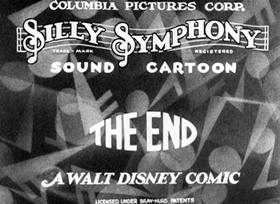 Screenshots from the 1931 Disney cartoon Birds of a Feather