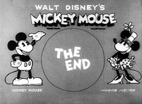 Screenshots from the 1931 Disney cartoon Mickey Steps Out