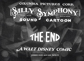 Screenshots from the 1931 Disney cartoon The Clock Store