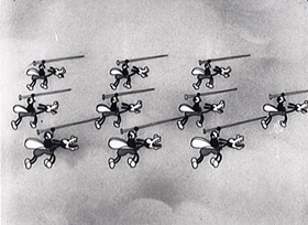 Screenshots from the 1931 Disney cartoon The Spider and the Fly