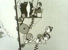 Screenshots from the 1931 Van Beuren cartoon A Swiss Trick