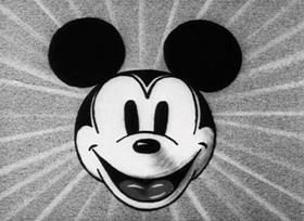 Screenshots from the 1931 Disney cartoon Mickey