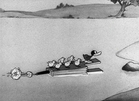 Screenshots from the 1931 Disney cartoon The Ugly Duckling