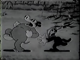 Screenshots from the 1931 Columbia cartoon Disarmament Conference