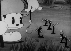 Screenshots from the 1931 Columbia cartoon The Little Pest
