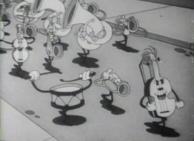 Screenshots from the 1931 Columbia cartoon Bars and Stripes