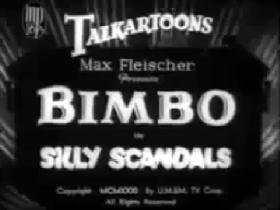 Screenshots from the 1931 Fleischer Studio cartoon Silly Scandals