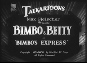 Screenshots from the 1931 Fleischer Studio cartoon Bimbo