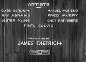 Screenshots from the 1931 Walter Lantz cartoon The Bandmaster