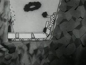 Screenshots from the 1931 Warner Bros. cartoon Box Car Blues