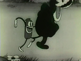 Screenshots from the 1931 Warner Bros. cartoon Ups