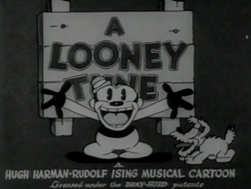 Screenshots from the 1931 Warner Brothers cartoon Dumb Patrol