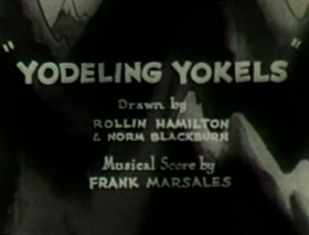 Screenshots from the 1931 Warner Brothers cartoon Yodeling Yokels