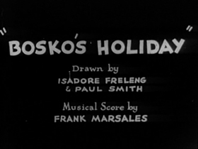 Screenshots from the 1931 Warner Brothers cartoon Bosko
