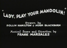 Screenshots from the 1931 Warner Brothers cartoon Lady Play Your Mandolin