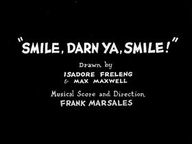 Screenshots from the 1931 Warner Brothers cartoon Smile, Darn Ya, Smile