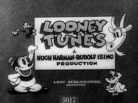 Screenshots from the 1931 Warner Brothers cartoon Bosko the Doughboy