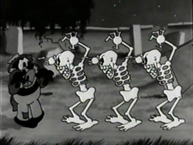 Screenshots from the 1931 Warner Brothers cartoon Hittin