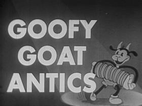 Screenshots from the 1931 Ted Eshbaugh cartoon Goofy Goat