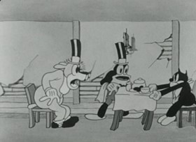 Screenshots from the 1931 Ub Iwerks cartoon The Soup Song