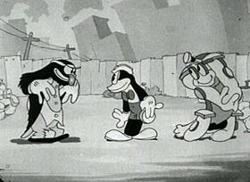 Screenshots from the 1931 Ub Iwerks cartoon The New Car