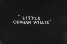 Screenshots from the 1931 Ub Iwerks cartoon Little Orphan Willie