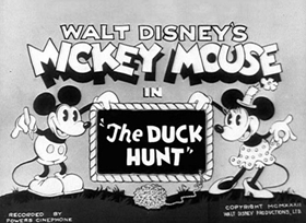 Screenshots from the 1932 Disney cartoon The Duck Hunt