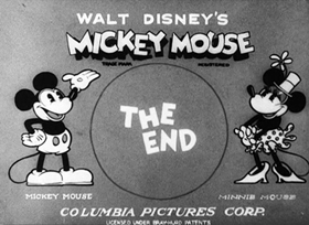 Screenshots from the 1932 Disney cartoon The Mad Dog