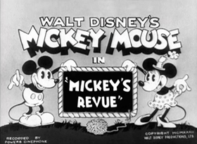 Screenshots from the 1932 Disney cartoon Mickey
