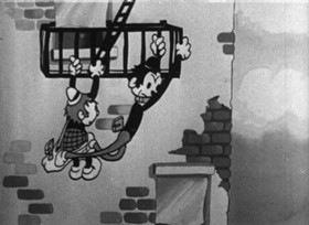 Screenshots from the 1932 Van Beuren cartoon Joint Wipers