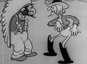 Screenshots from the 1932 Van Beuren cartoon Redskin Blues