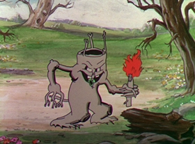 Screenshots from the 1932 Disney cartoon Flowers and Trees