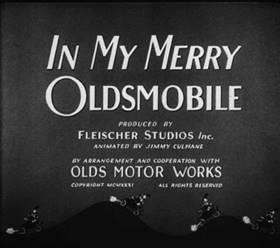Screenshots from the 1932 Fleischer Studio cartoon In My Merry Oldsmobile