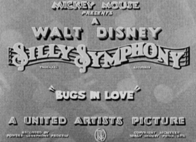 Screenshots from the 1932 Disney cartoon Bugs in Love