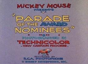 Screenshots from the 1932 Disney cartoon Parade of the Award Nominees