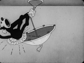 Screenshots from the 1932 Columbia cartoon The Paper Hanger
