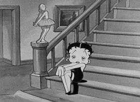 Screenshots from the 1932 Fleischer Studio cartoon Minnie the Moocher