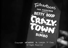 Screenshots from the 1932 Fleischer Studio cartoon Crazy Town